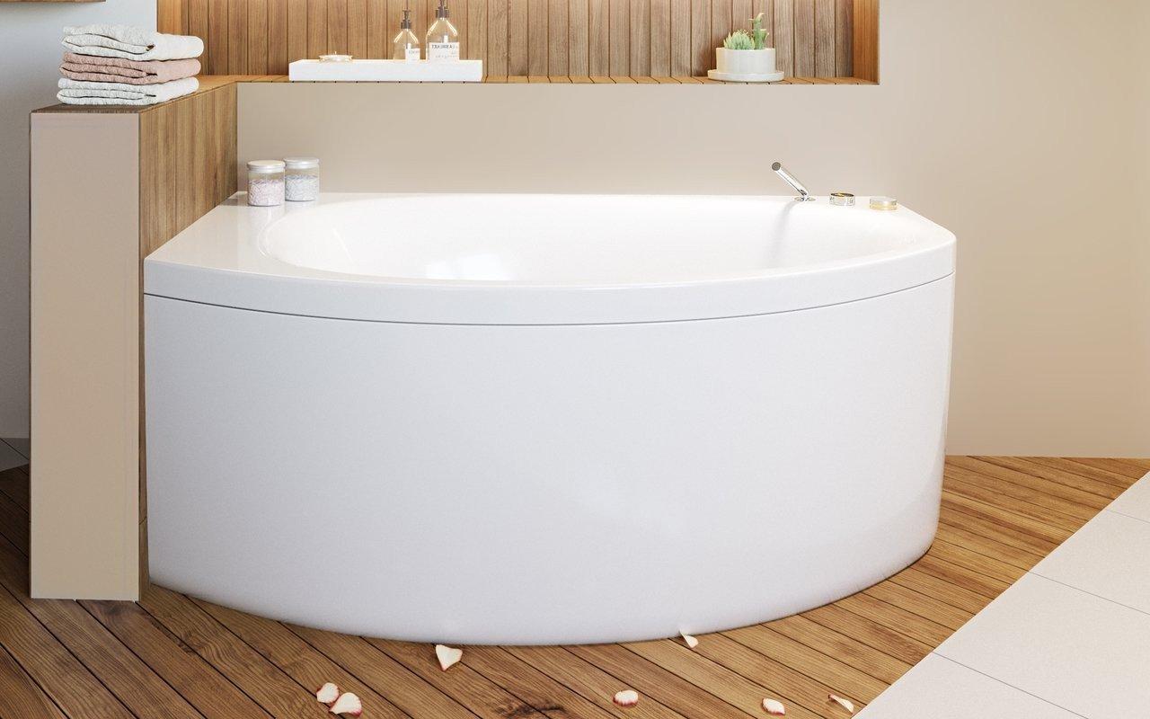 Vasca Da Bagno Angolare Piccola : Anette a r wht di aquatica vasca da bagno angolare in acrilico