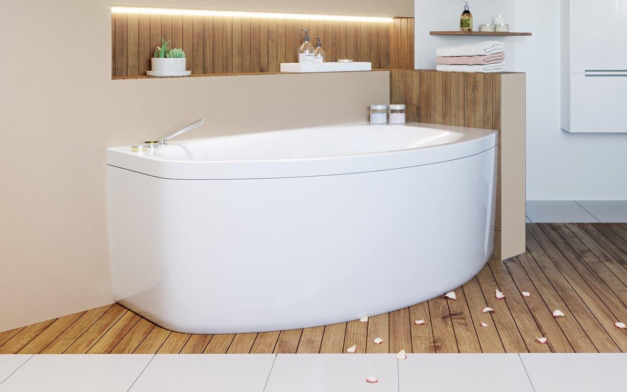 Vasca Da Bagno Angolare Piccola : Anette b l wht di aquatica vasca da bagno angolare in acrilico