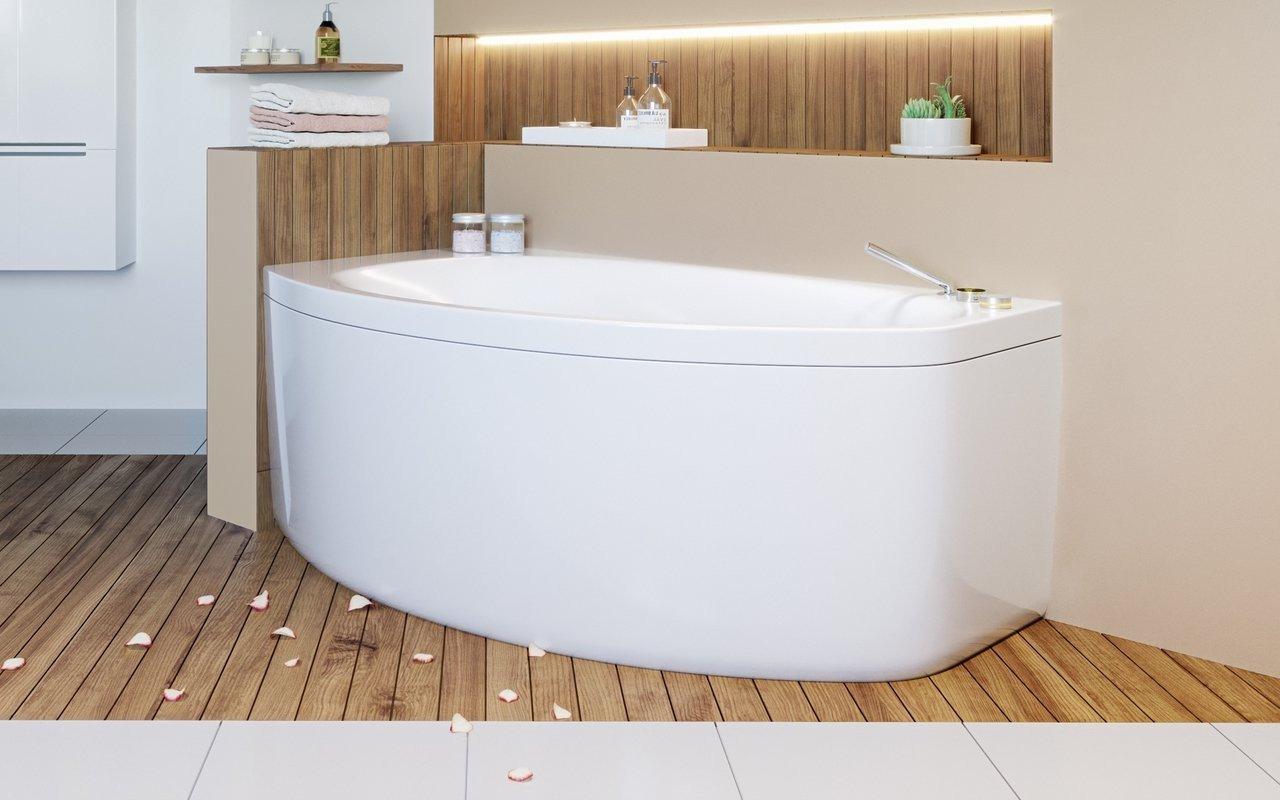 Anette-B-R-Wht di Aquatica, vasca da bagno angolare in acrilico picture № 0