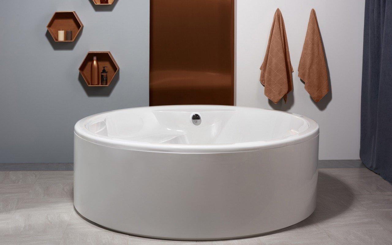Vasca Da Bagno Freestanding Polaris : Allegra wht vasca da bagno freestanding di aquatica in materiale