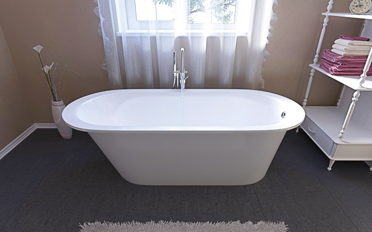 Inflection a f wht la vasca da bagno freestanding for Resin tubs pros and cons
