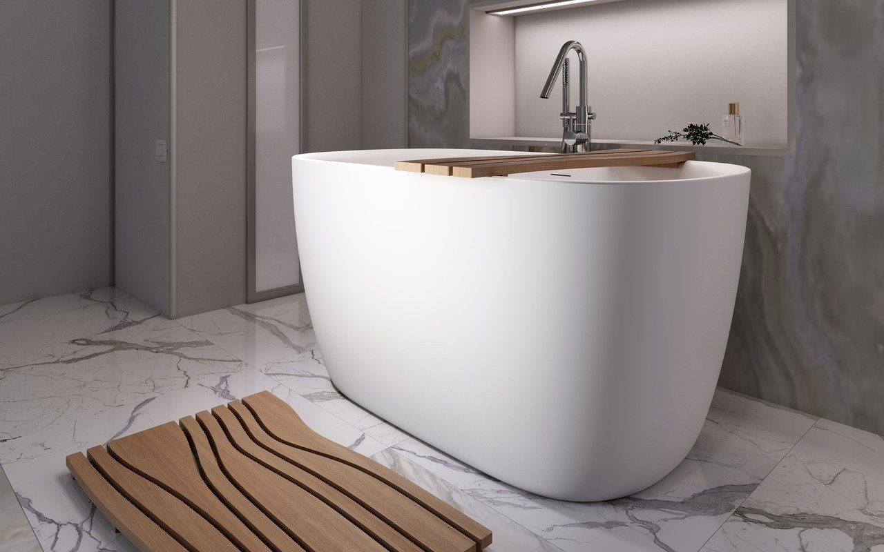 Lullaby 2 Max, la Vasca da Bagno Freestanding di Aquatica in pietra AquateX™ – Bianco picture № 0