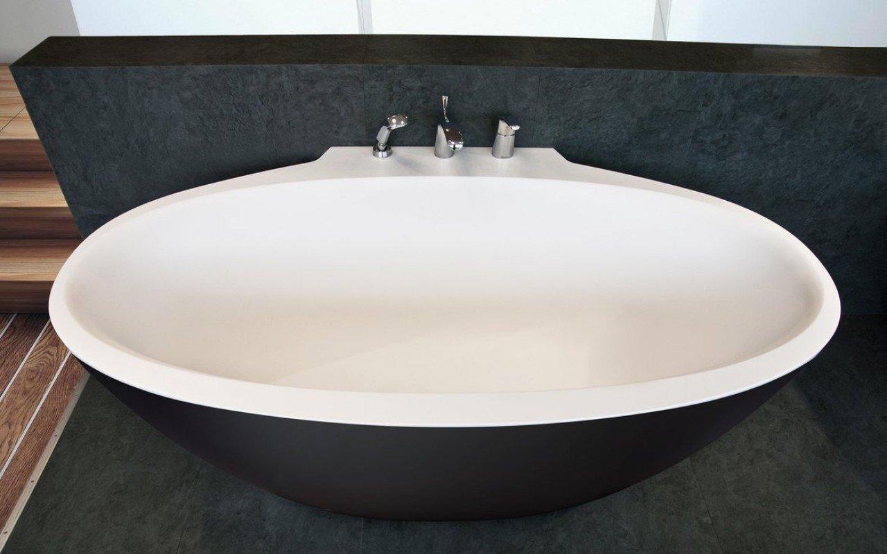 Sensuality Mini-W-Blck-Wht, la vasca da bagno freestanding di Aquatica in pietra AquateX™ – in Nero e Bianco picture № 0