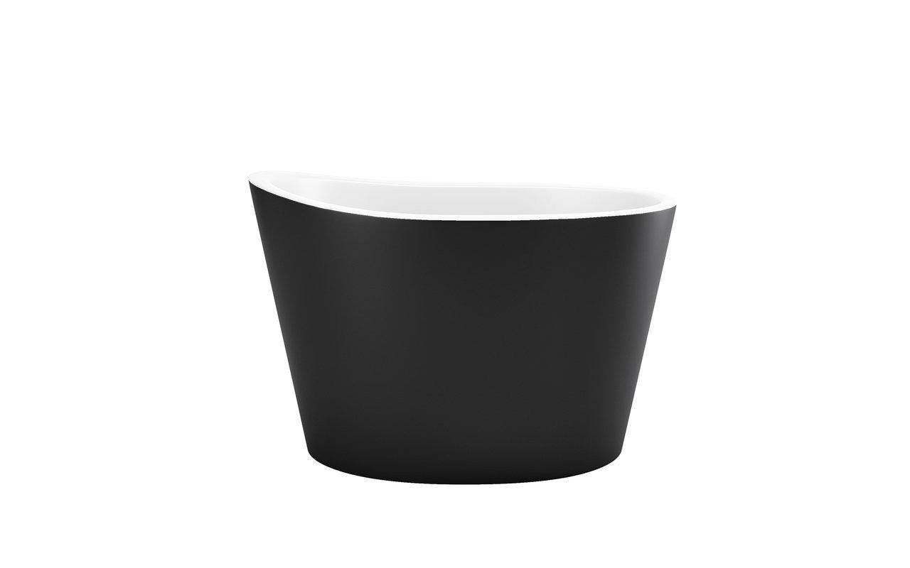La Vasca Autoportante True Ofuro in pietra AquateX™ di Aquatica – in Nero e Bianco picture № 0