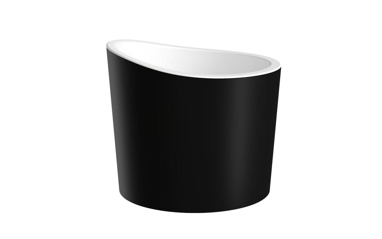 La Vasca Autoportante True Ofuro Mini in pietra AquateX™ di Aquatica – in Nero e Bianco picture № 0
