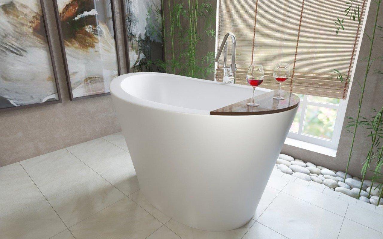 Piccola Vasca Da Bagno Che Si Sta Seduti : La vasca autoportante true ofuro in pietra aquatex™ di aquatica