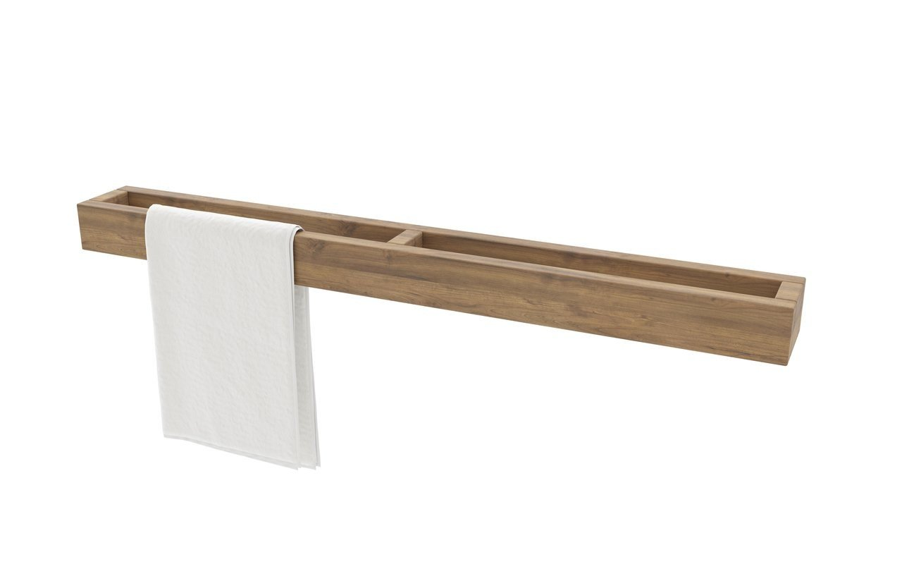 Aquatica Universal Waterproof Wall Mounted Teak Towel Rack 01 (web)