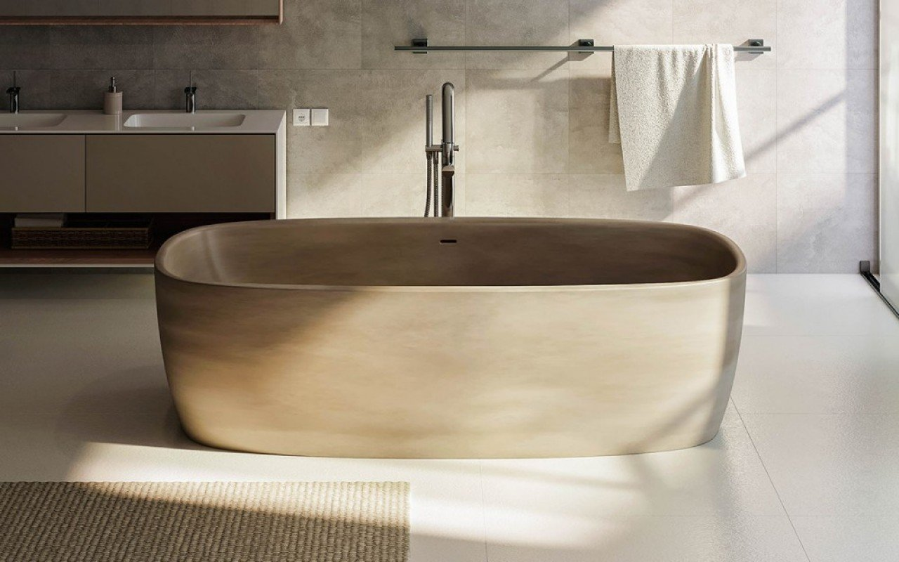 Vasca Da Bagno Freestanding Polaris : Coletta sandstone la vasca da bagno freestanding di aquatica in