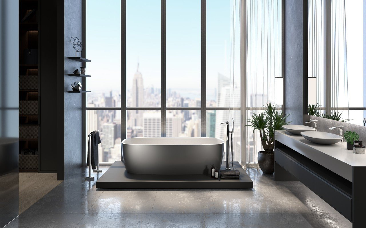 Aquatica coletta gunmetal wht freestanding solid surface bathtub 01 (web)