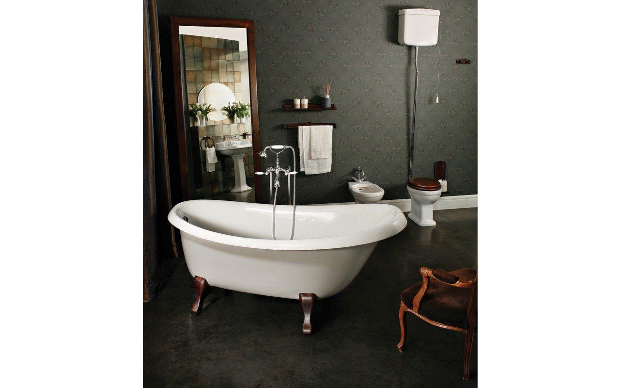 Nostalgia la vasca da bagno freestanding di aquatica in - Vasca da bagno in pietra ...
