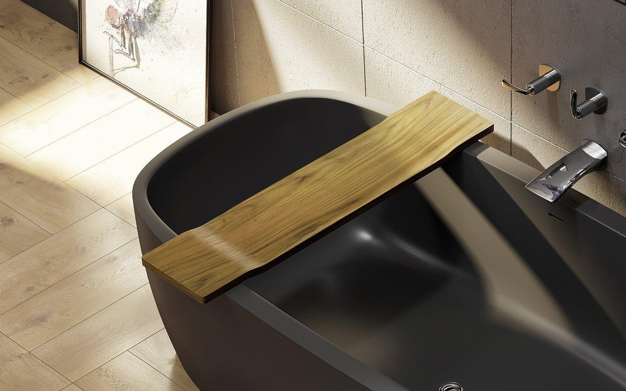 Tidal di Aquatica – Mensola in Teak impermeabile per vasca da bagno picture № 0
