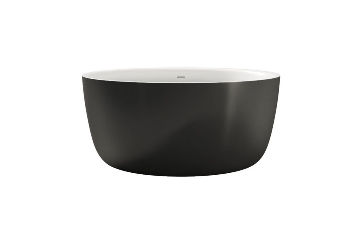 Aquatica Purescape720 Black White Freestanding Solid Surface Bathtub04