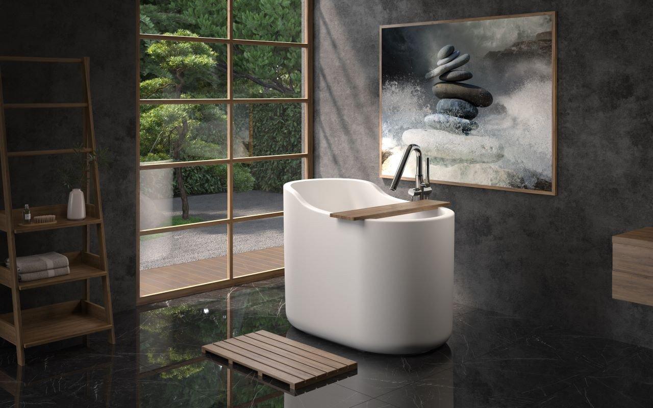 La Vasca Autoportante True Ofuro Nano in pietra AquateX™ di Aquatica picture № 0