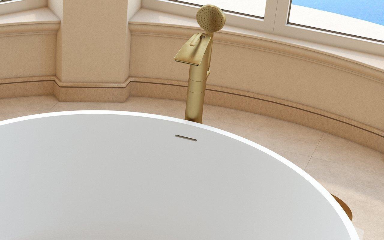 Bollicine Riempitore per vasca a colonna – in Oro Giallo picture № 0
