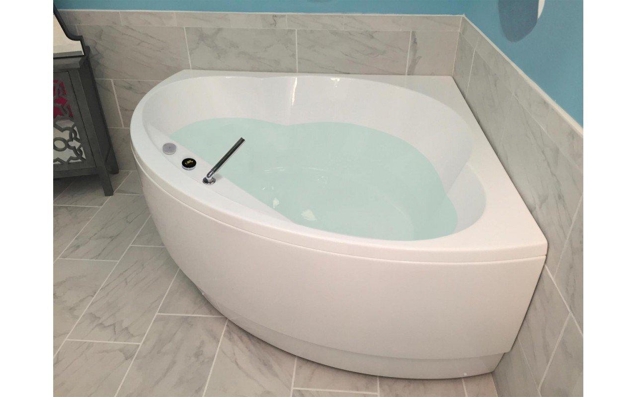 Vasca Da Bagno Angolare Piccola : Cleopatra wht la vasca da bagno ad angolo di aquatica in materiale