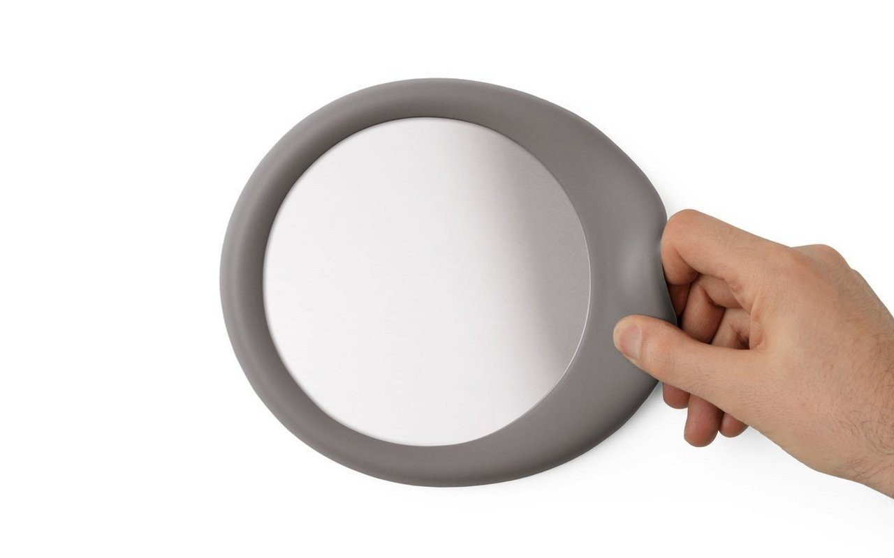 Eclipse Self Adhesive Wall Mounted Mirror Dove Grey 01
