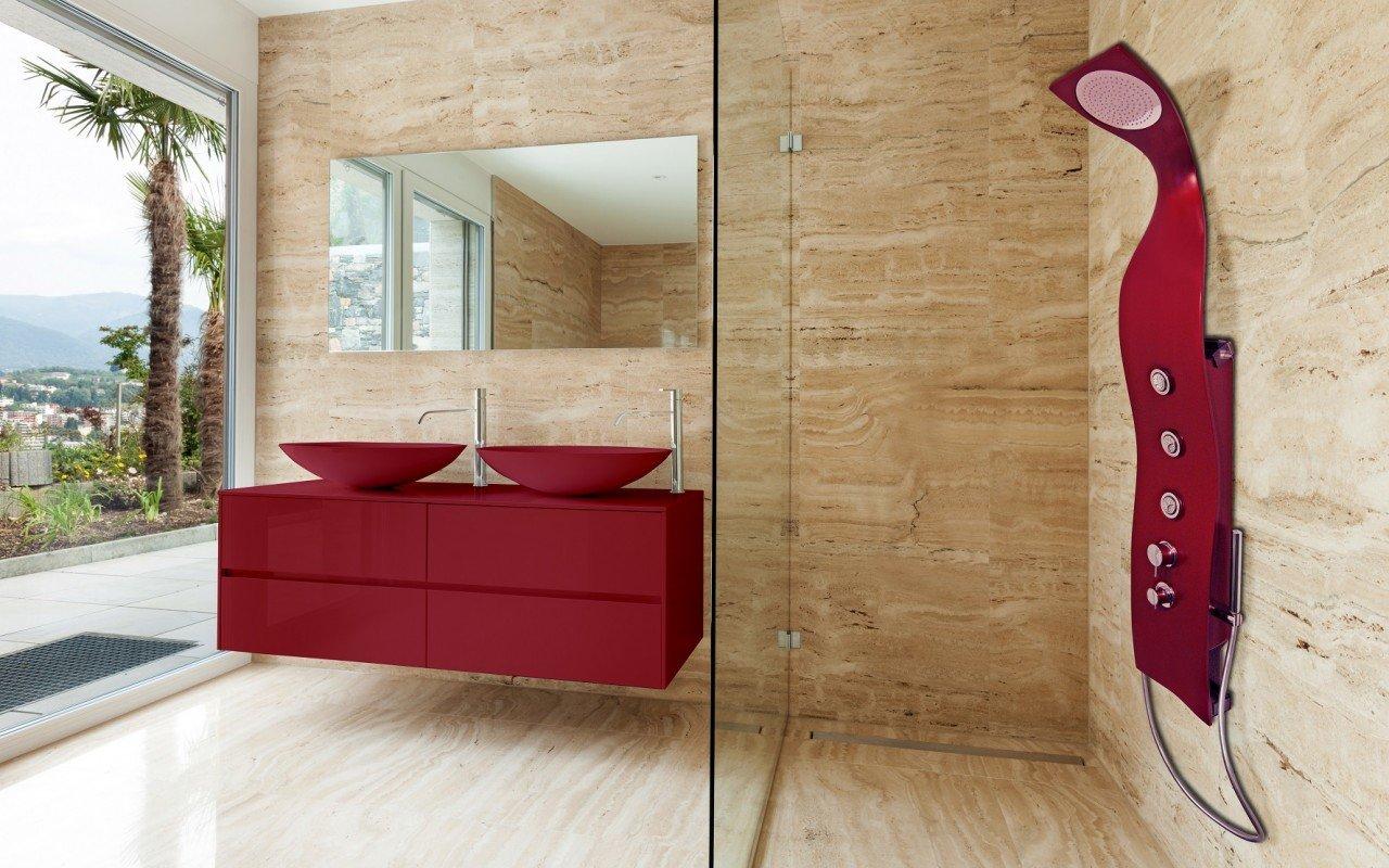 Elise Red Shower web (1)