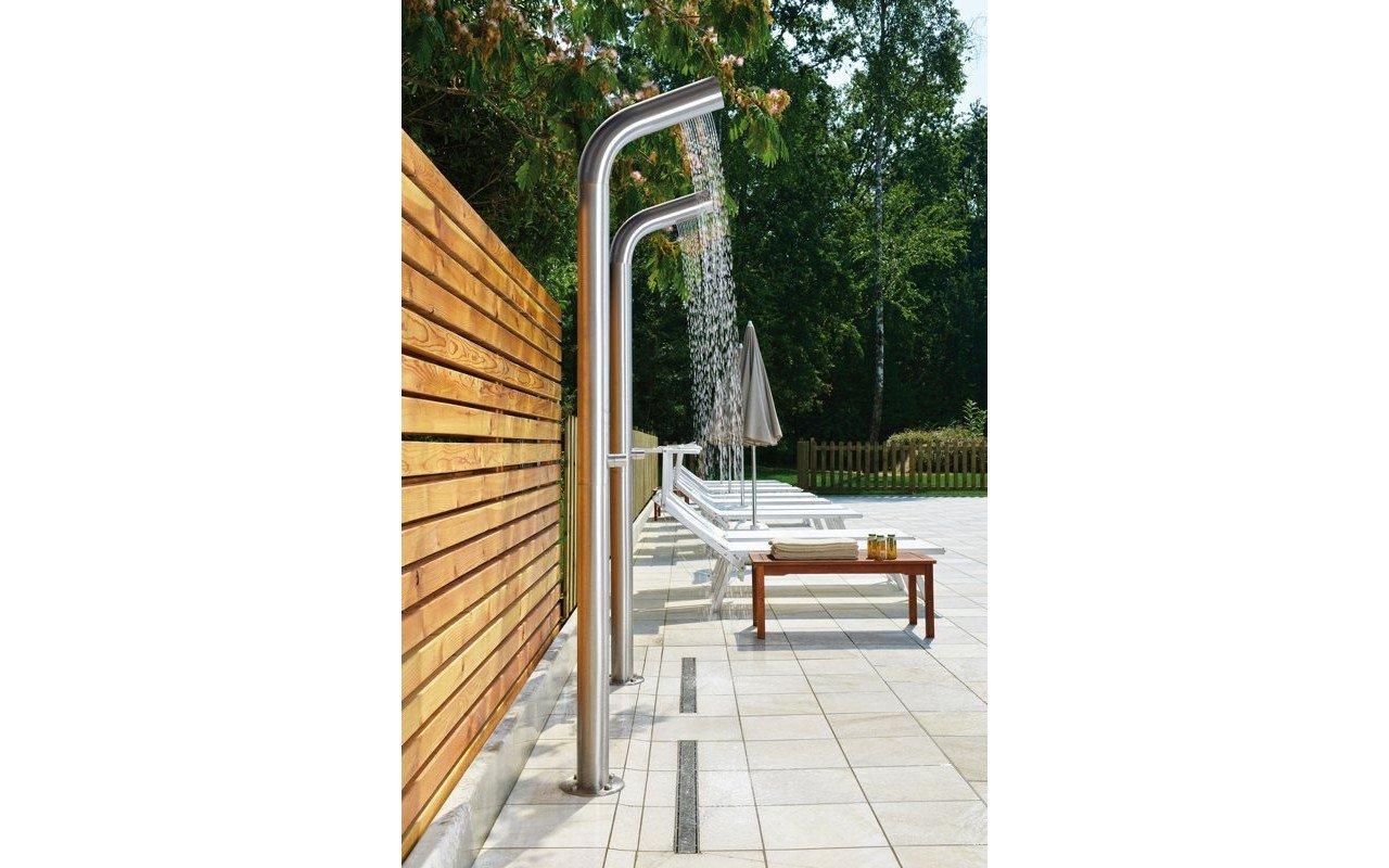 Vasca Da Bagno Piccola Dwg : Colonna doccia da esterno gamma freestanding di aquatica
