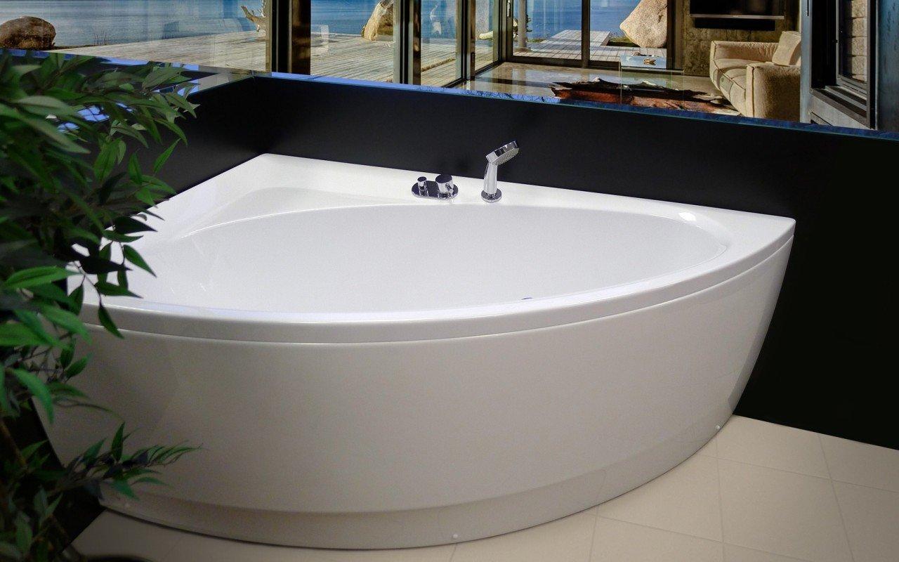 Vasca Da Bagno Angolare Chiusa : Idea r wht la vasca da bagno ad angolo di aquatica in materiale