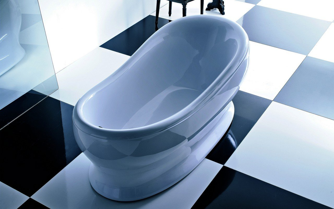 Vasca Da Bagno Freestanding Polaris : Impero wht vasca da bagno freestanding in acrilico