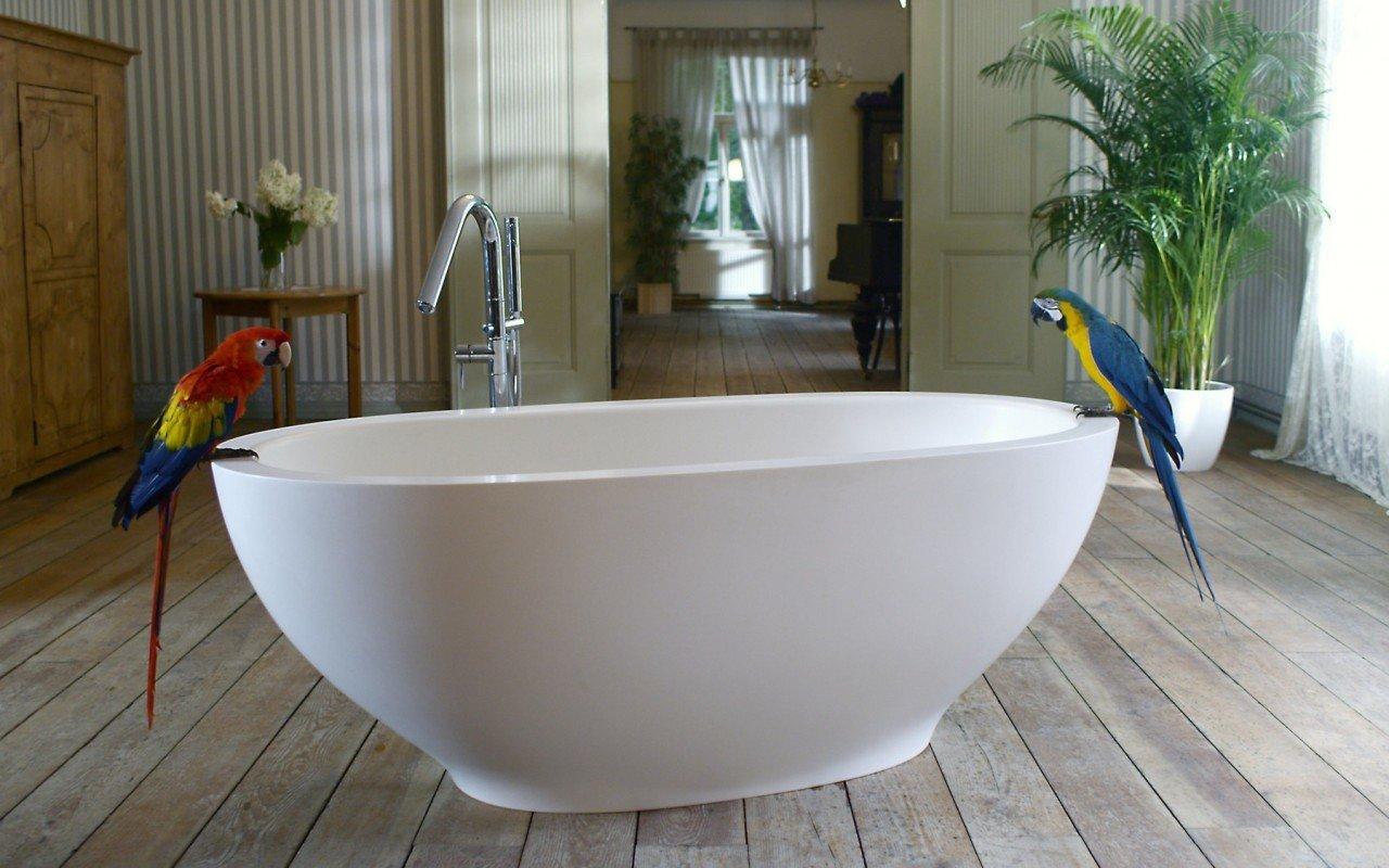 Karolina White Stone Bathtub 1200 1800
