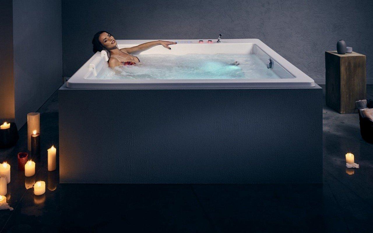 Bordo Vasca Da Spa : Aquatica lacus wht hydrorelax pro vasca da bagno con idromassaggio