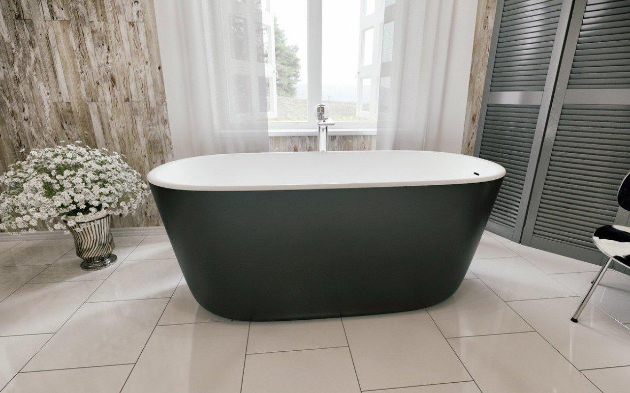 Vasca Da Bagno Piccola Da Appoggio : Lullaby blck wht la piccola vasca da bagno freestanding di aquatica