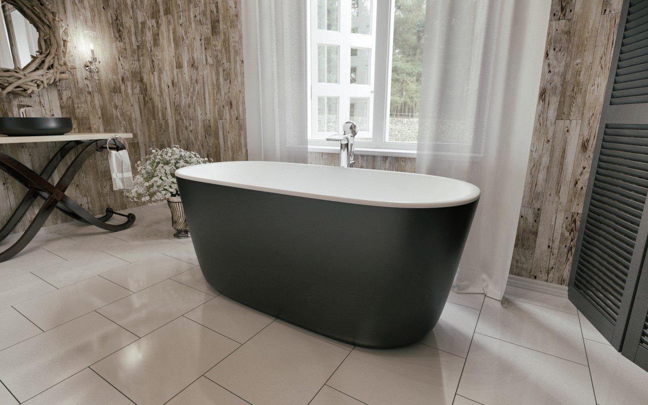 Lullaby mini black la vasca da bagno freestanding - Vasca da bagno in pietra ...