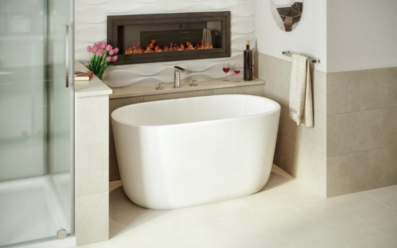 Lullaby nano wht la piccola vasca da bagno freestanding in pietra aquatex - Costo vasca da bagno ...