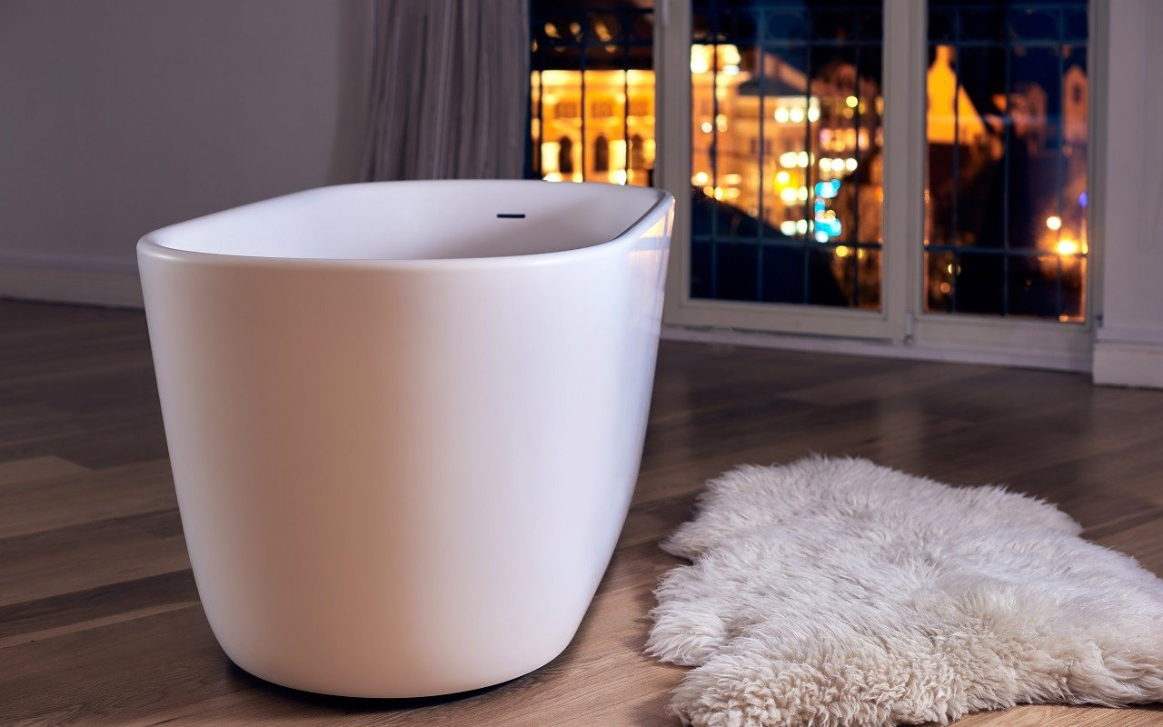 lullaby wht small freestanding solid surface bathtub by aquatica web 4