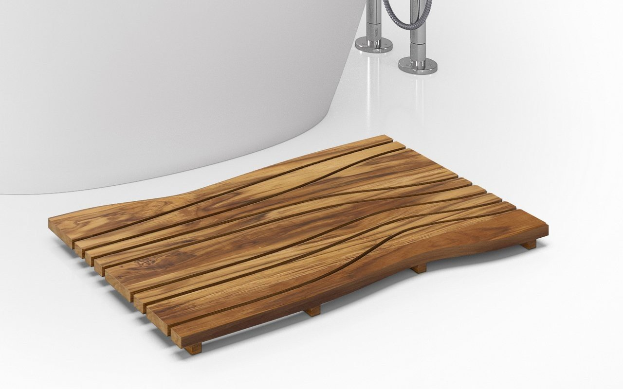 Onde waterproof teak wood floor mat 03 (web)