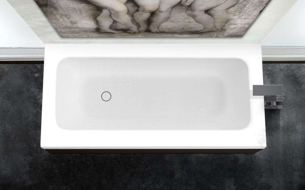 Pure 1d di aquatica la vasca da bagno freestanding in pi tra con pannelli in legno di quercia - Pannelli vasca da bagno ...