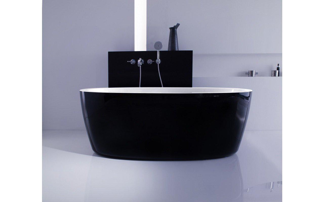 PureScape 174A Blck Wht Freestanding Acrylic Bathtub web