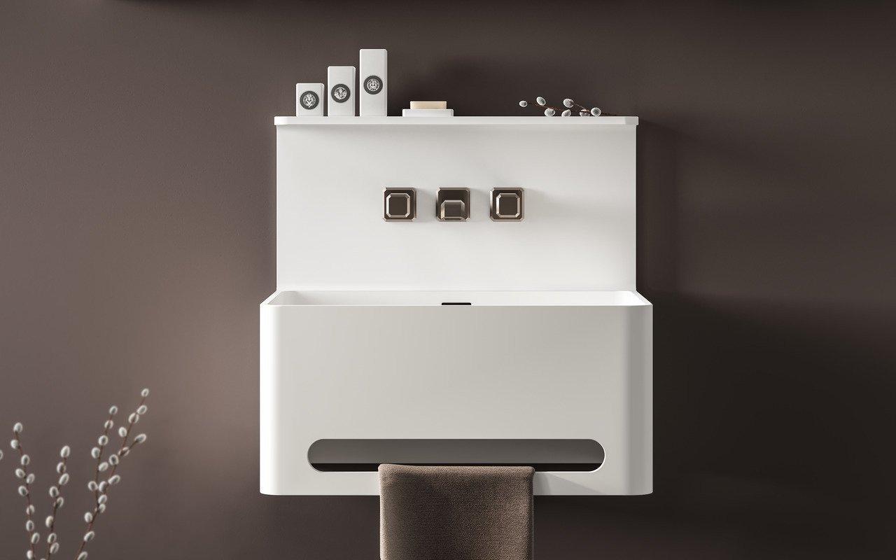 Sola, il Lavabo Freestanding in Solid Surface di Aquatica picture № 0
