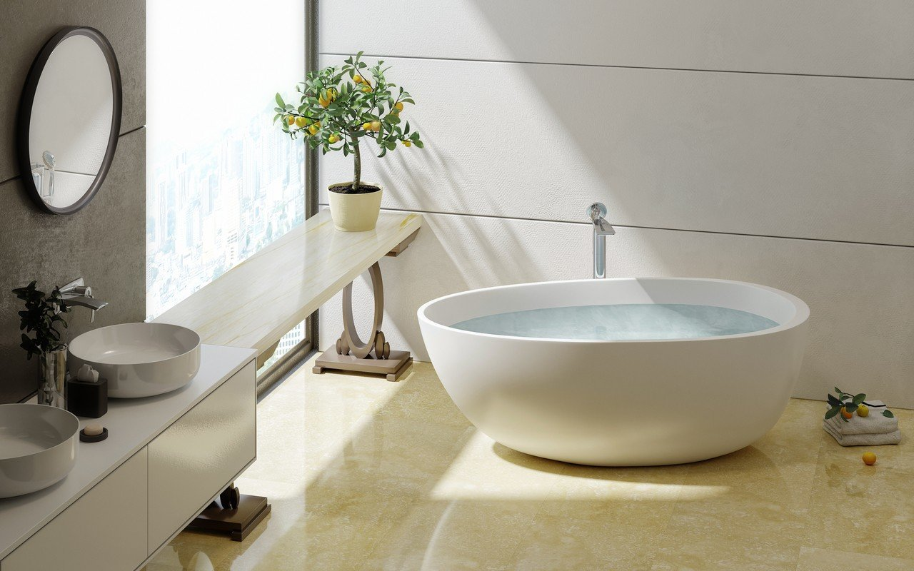 Spoon 2 Freestanding Solid Surface Bathtub by Aquatica 02 (web)
