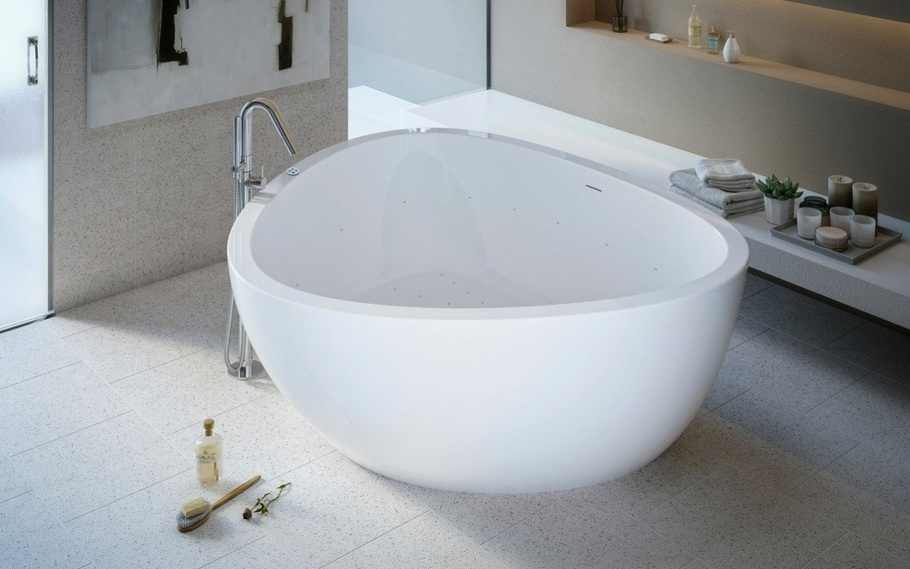 Trinity Relax Freestanding Light Weight Stone Bathtub High Gloss 01 (web)