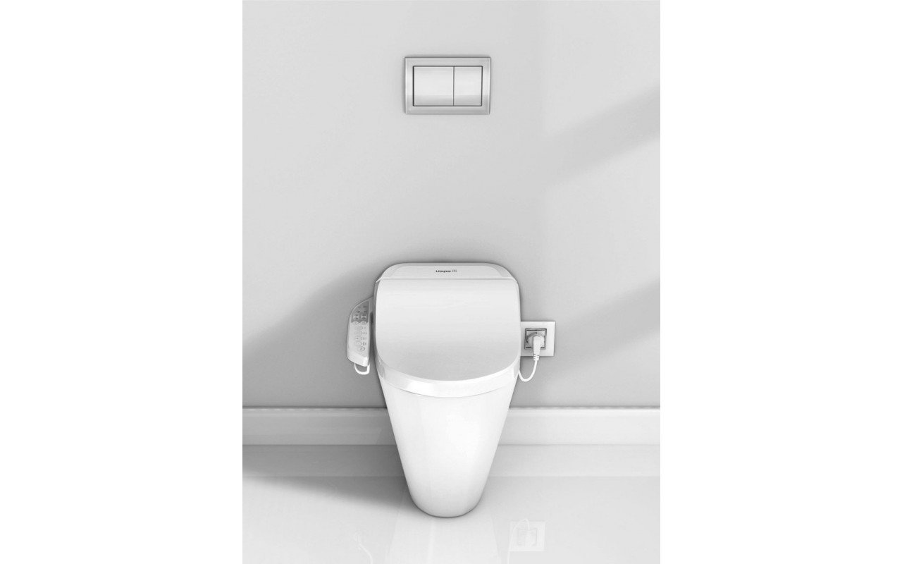 USPA 7235 D Hygienic Electronic Bidet Seat with Side Control Panel and Zero F Toilet (web)