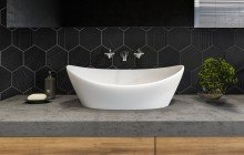 Small White Vessel Sink picture № 3