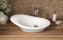 Small White Vessel Sink picture № 12