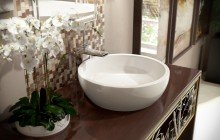Texture Bowl Wht Round Ceramic Bathroom Vessel Sink web (1)