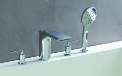 Aquatica Bollicine 4 Hole Deck Mounted Bath Filler (SKU 126) 01