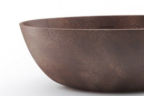 Spoon 2 Egg Shaped Bronze Solid Surface Bathtub 03