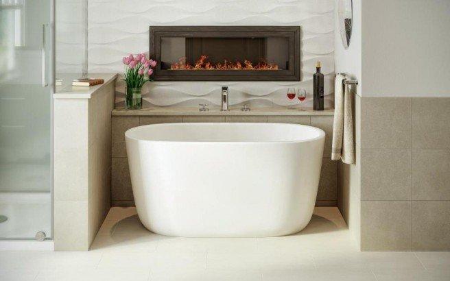Lullaby Nano Wht Small Freestanding Solid Surface Bathtub by Aquatica web