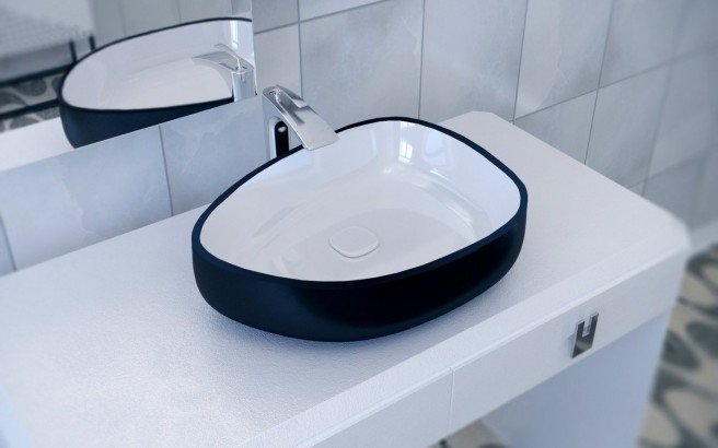 Metamorfosi Black Wht Shapeless Ceramic Vessel Sink 01 (web)