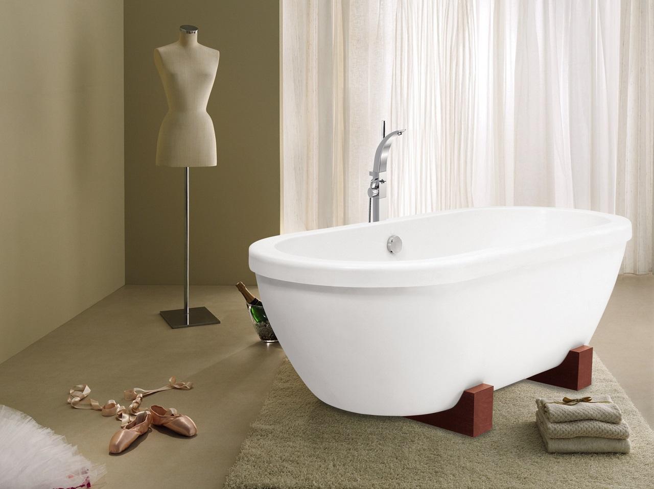 Vasca Da Bagno Vintage Prezzi : Adoreme vasca in pietra freestanding bianca peso piuma di aquatica