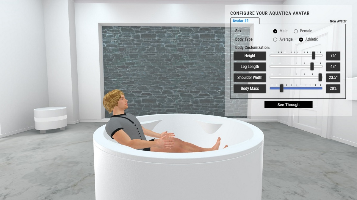 Allegra Bathtub 3D Body Position