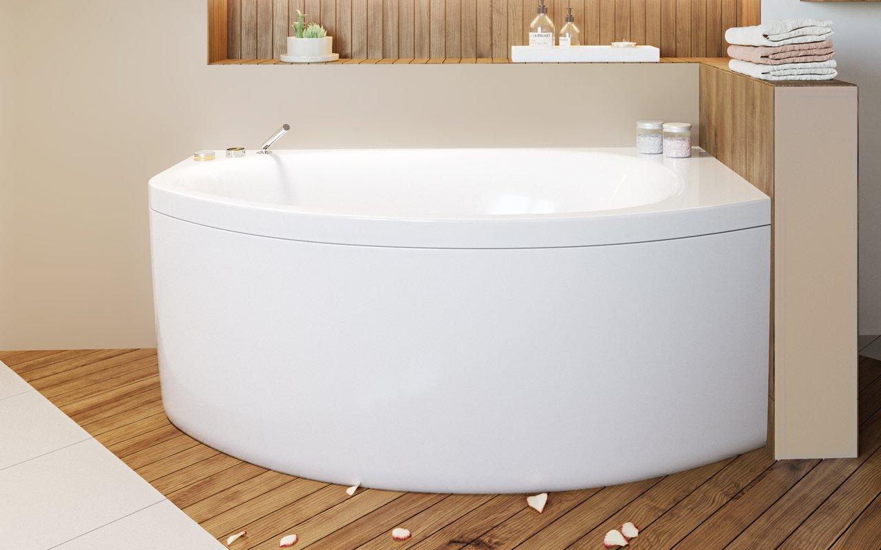 Vasca Da Bagno Angolare Piccola : Anette a l wht di aquatica vasca da bagno angolare in acrilico