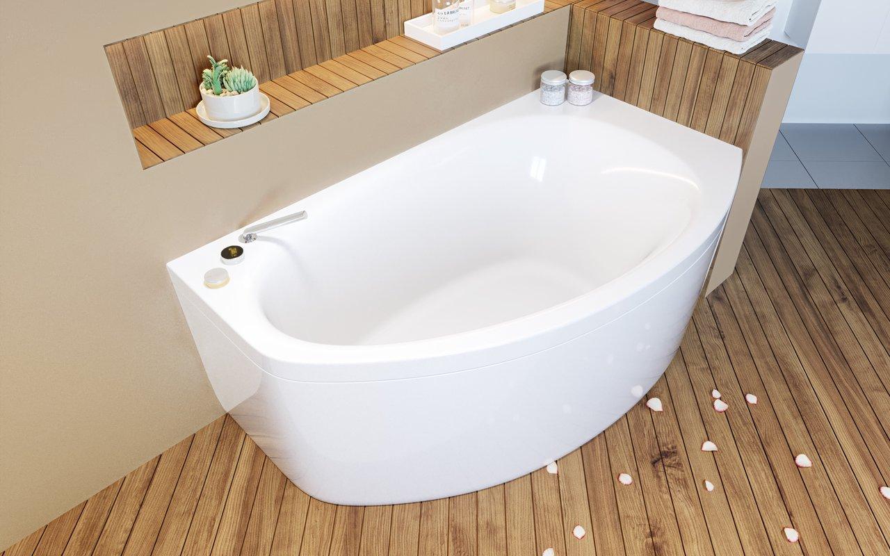 Angolare Per Vasca Da Bagno : Anette c l wht di aquatica vasca da bagno angolare in acrilico