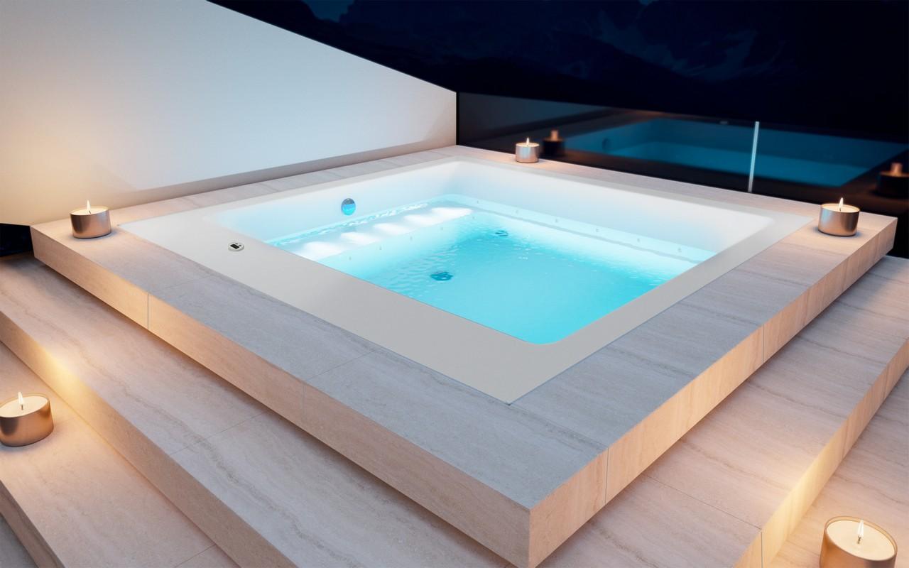 Vasca Da Bagno Per Esterno : Lacus wht out vasca da bagno da esterno di aquatica in acrilico