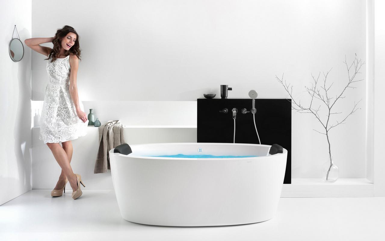 Vasca Da Bagno Freestanding Polaris : Aquatica purescape a wht relax vasca da bagno con idromassaggio